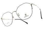 SEROVA光學眼鏡 SL398 C36 (黑-銀) 多邊造型金屬框款 眼鏡框 #金橘眼鏡