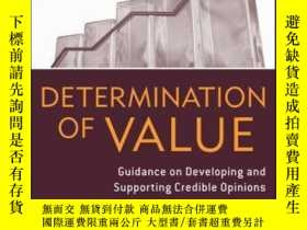 二手書博民逛書店Determination罕見of Value: Appraisal Guidance on Developing