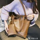 韓版單肩手提包休閒簡約子母包潮流托特包通勤包女包大包 娜娜小屋