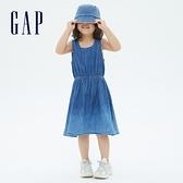 Gap女童 純棉輕薄牛仔背心裙 686943-藍色紮染