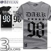 親子裝 情侶裝【JG4510】OBI YUAN韓版DARK 99泰文星星印花短袖T恤共3色