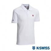 K-SWISS Vintage Logo Polo短袖POLO衫-男-白