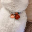可愛草莓寵物項圈貓咪狗狗英短布偶泰迪比熊項圈寵物鈴鐺寵物用品 快速出貨