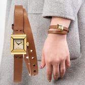 Gucci G-FRAME 都會女子雙圈小牛皮腕錶 YA128521 熱賣中!