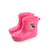 Disney 迪士尼 米妮 雨鞋 雨靴 桃紅色 中童 D17008 no085