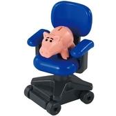 小禮堂 TOMICA 多美小汽車 培根豬 滑輪椅公仔 模型 兒童玩具 (TS-09 藍) 4904810-87501