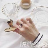 顯膚白精致小巧秀氣紅色愛心戒指桃心開口百搭個性食指戒指女款  朵拉朵衣櫥