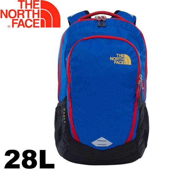 【The North Face 美國 28L 15吋電腦背包《藍/黑》】CHJ0/電腦包/後背包/通勤包★滿額送