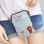 新款正韓帆布手機包女斜挎包零錢包學生手機袋迷你可愛小包包