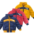男童撞色拼接鋪棉立領外套 厚外套 外套 男童 鋪棉外套 童裝
