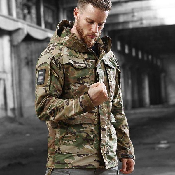 執政官諜影戰術外套男秋冬迷彩風衣中長款迷彩M65軍迷防水衝鋒衣