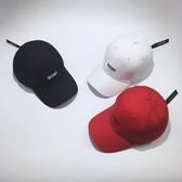 韓國原宿字母刺繡棒球帽子女夏休閒正版紅帶子遮陽鴨舌帽男潮【快速出貨】