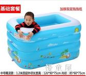 新生嬰兒游泳池家用充氣幼兒童寶寶洗澡桶加厚游泳戲水池 QQ5664『優童屋』