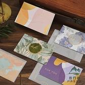 生日賀卡新年祝福留言卡折疊感謝卡春節祝福賀卡帶信封【步行者戶外生活館】