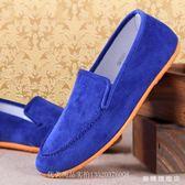 布鞋男鞋特大號單鞋軟底平跟懶人鞋一腳蹬休閒鞋帆布鞋