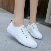 平底鞋 透氣小白鞋女鞋年鞋子平底厚底夏季薄款單鞋帆布百搭白鞋 芊墨左岸