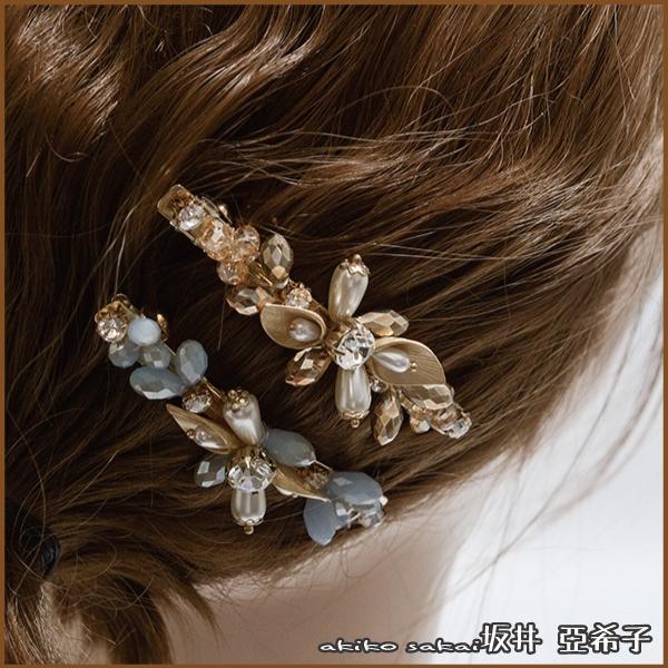 『坂井.亞希子』綻放的花鑲鑽造型髮夾