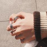 纏情 S925純銀戒指情侶一對女食指戒日韓簡約學生百搭男錬條復古 卡布奇诺