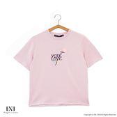 【INI】刺繡甜美、精緻舒適休閒上衣.粉色