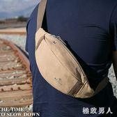 新款時尚男士戶外跑步運動斜挎包胸包男耐磨手機帆布男多功能TA9309【極致男人】