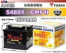 ✚久大電池❚ YUASA 湯淺電池 54...