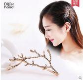 韓式劉海邊夾鹿角頭飾品一字簡約發箍PLL3247【男人與流行】