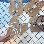 現貨夾腳拖鞋 夏季新款歐洲站套趾水纘平底兩穿涼拖夾腳人字拖鞋女厚底涼鞋 唯伊時尚9-18