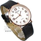 KEVIN 數字時刻簡約時尚腕錶 防水手錶 皮革錶帶 男錶/中性錶/女錶/都適合 黑x玫瑰金 KV3068黑大