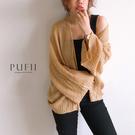 PUFII-針織外套 開襟寬袖針織薄外套-0815 現+預 夏【CP17128】