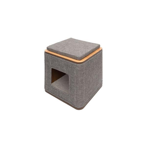 寵物家族-HAGEN 赫根Vesper 貓用實木精品家具 跳台-方塊積木屋