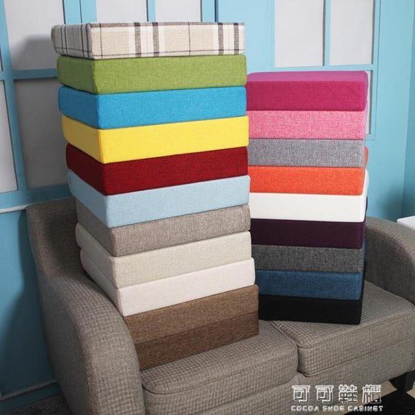 粗麻亞麻坐墊 海綿坐墊靠墊沙發坐墊飄窗墊 辦公座椅墊  可可鞋櫃