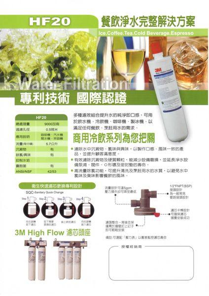 【天耀淨水】3M HF-20 除菌生飲濾芯 替換濾芯 餐飲商用淨水過濾設備