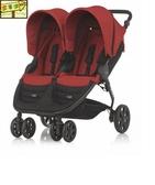 [家事達] Britax -BX08379 頂級 B-Agile Double單手收豪華雙人手推車-紅色 特價