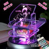 音樂盒 創意diy水晶鋼琴音樂盒音樂盒生日禮物送女生女友兒童旋轉情人節 果果輕時尚