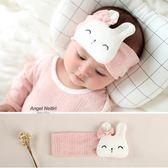嬰兒發帶萌美兔子發飾寶寶頭飾護囟門遮風新生發箍寶寶頭花禮物 七夕情人節