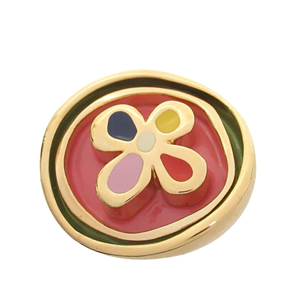 LOUIS VUITTON LV 路易威登 彩色花朵金屬戒指 Monogram Flower Ring【BRAND OFF】