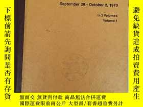 二手書博民逛書店proceedings罕見of the 1970 proton