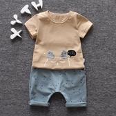 男童秋冬套裝男孩兩件套兒童童裝寶寶短袖夏裝1一2-3-4-5歲衣服【萬聖夜來臨】