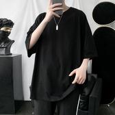 2020新款夏季純色圓領短袖T恤男寬鬆韓版潮流半袖上衣休閒打底衫 貝芙莉