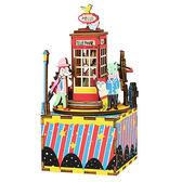《 Robotime  》3D木製拼圖 - AM401音樂盒系列電話亭╭★ JOYBUS玩具百貨