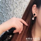 耳環  三角圓形鑽鈦鋼耳環女氣質耳飾韓國個性百搭吊墜簡約耳釘幾何耳墜『歐韓流行館』