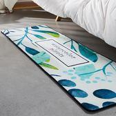 尾牙年貨節50*150植物地毯 長方形可愛北歐床邊毯地墊機洗多色gogo購