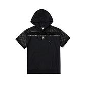 FILA 女款 短袖 連帽T恤 黑色 5TEV-5430-BK 【KAORACER】