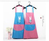 黑五好物節 情侶可愛廚房防水圍裙韓版時尚成人罩衣 挪威森林