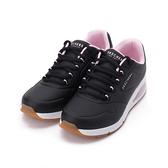 SKECHERS UNO 2 綁帶運動鞋 黑白粉 155542BLK 女鞋