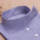 假領子襯衫假領片 條紋洋裝罩衫大學T針織衫內搭藍色[E1478] 滿額送愛康衛生棉預購.朵曼堤洋行