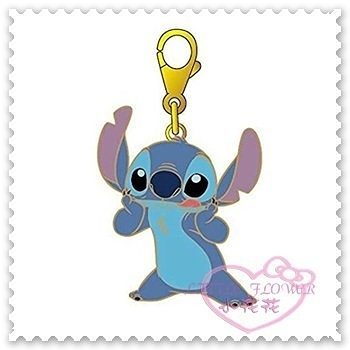 ♥小花花日本精品♥《Disney》迪士尼史迪奇吊飾鑰匙圈拉鍊吊飾立體吐舌頭金邊日本限定58906101