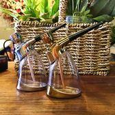 便攜式兩用型水煙壺全套過濾水煙斗透明玻璃燒鍋創意彎式煙斗