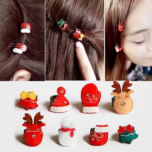 Xmas聖誕系列迷你髮夾 聖誕節 髮飾