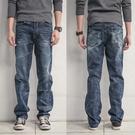 台灣製鬼洗湛藍手工暈染電繡牛仔褲
